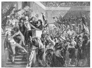 Esses revolucionários franceses sabiam mesmo se divertir! Pena que chegavam a perder a cabeça...